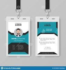 Company Id Card Template Creative Employee Id Card Template Stock Vector