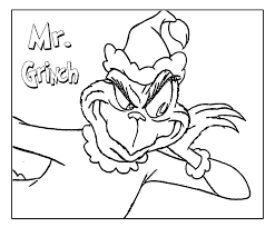 Small Picture Grinch Coloring Pages Printable For Here Bebo Pandco
