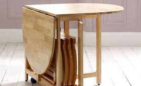 folding dining table for a small space