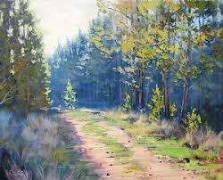 >pine tree art fine art america pine tree wall art painting sunny corner pine forest by graham gercken
