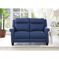 blue reclining sofa stylish hydeline by amax dolce top grain leather power throughout 5