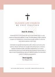Free printable letterhead for churches. Pink And Cream Border Church Letterhead Template Postermywall