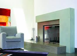 fireplaces are inhely the heart of the home and a striking concrete surround
