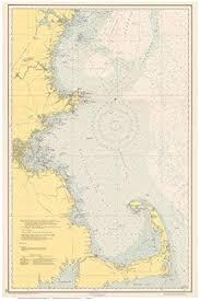 Amazon Com Massachusetts Shoreline Nautical Map 1951 Cape