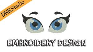 Eyes Embroidery Design Cute Eyes Embroidery Design Youtube