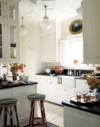 Kitchen Designs Galley Style Kitchen Galley Kitchen Layout In White With Crown Molding Via