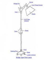 wiring diagram for old floor lamp the wiring diagram bridge floor lamp lighting and chandelier how to s wiring diagram
