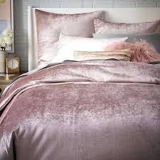 royal velvet bedding sets crushed comforter washed cotton er duvet cover shams west elm bed pink