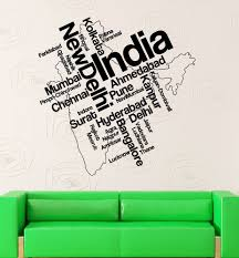 Small Picture Wall Stickers Vinyl Decal India Map New Delhi Map Country Travel