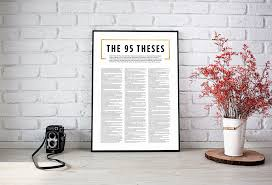 95 Theses Printmartin Luther Printluther Quotereformed Theologyreformers Art5 Solasreformation Printablechristian Artreligous Print