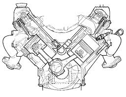 V8 engine exploded view diagram car