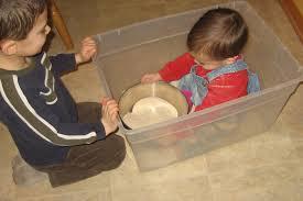 children with sandbox