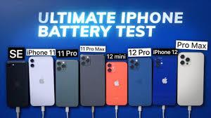 PhoneArena - Ultimate iPhone BATTERY Test: 12 Pro Max vs 12 Pro / 12 / mini  / 11 Pro Max / Pro / 11 / iPhone SE