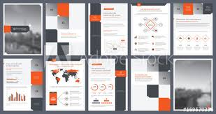 Elements Of Infographics For Report Template And Presentations Beauteous Annual Report Template Design