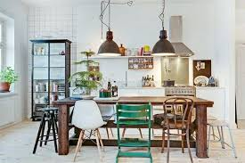 The dining room above has mismatched chairs, yes. the chairs are of  different styles and colors: we have a white Scandinavian chair, a rustic  natural wood ...