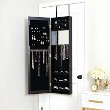wall mounted mirror jewelry organizer with armoire door jewelry armoire mirrored cabinet storage wall mount