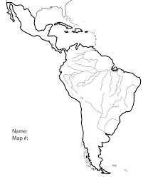 North And South America Blank Map Blank Map Of North And South America E Dbd Org