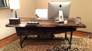 rustic office desk. diy rustic office desk