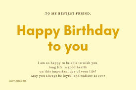 long birthday message for best friend