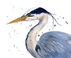heron painting blue heron painting by alison fennell