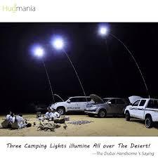 Camping Lights Dubai Telescopic Rod Camping Light Hugmania Dual Head Led Lantern Double Bright For Road Trip Self Drive Desert Prairie Seaside Beach Camp Patio Bbq