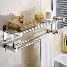 steel wall mounted bathroom towel