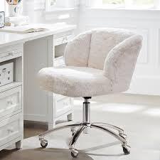polar bear faux fur wingback chair