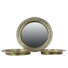 round wall mirror set pierced electroplated gold finish metal round wall mirror set of 3 wall round wall mirror set elements 5 piece antique