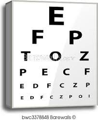Printable Eye Chart Medical Fuzzy Sight Of Eye Chart Canvas Print
