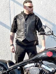 challenger men s laced sides leather biker vests