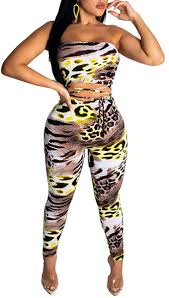 Sexy Bodycon Jumpsuit for Women Leopard - Off One ... - Amazon.com