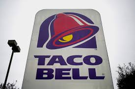 taco bell sign. Brilliant Sign Taco Bell Sign Displayed Outside Of A Restaurant Inside Sign
