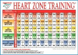 Cardio Zone Heart Rate Chart Cardio Training Heart Rate Chart