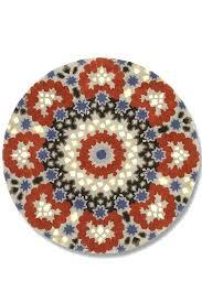 red circles rug nomadic blue and red circular patterned rug red circular rugs uk small red
