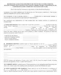 Apartment Rental Lease Apartment Rental Lease Agreement Templates ...