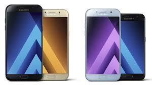 samsung galaxy smartphones. samsung galaxy a3, a5, a7 (2017) smartphones launched ahead of f