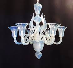 ch735 vintage modern transitional opalescent venetian murano glass chandelier