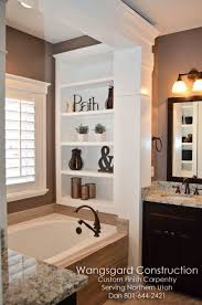 image bathtub decor: decorating shelves in bathroom built in shelves in bathroom master bathroom tub decor master bathtub ideas master bath decorating ideas