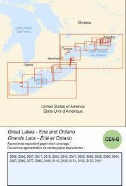 Lake Ontario Chart Enc Nautical Chart Great Lakes Ontario Erie