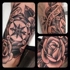 Black Compass Tattoo By Matt Houston Design Of Tattoosdesign Of
