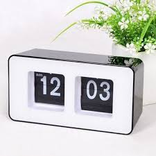 retro flip number desk clock 19 liked on polyvore featuring home home