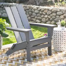 belham living portside modern adirondack chair  black  hayneedle