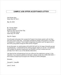 Email Accepting Job Offer Mesmerizing 48 Acceptance Letter Examples