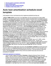 create a schedule in excel fillable online auto loan amortization schedule excel template