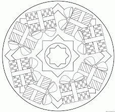 Dessin De Mandala Dure Fantaisie Concept Coloriage Mandala Noel