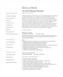 Sample Assistant Manager Resume Resume Bank