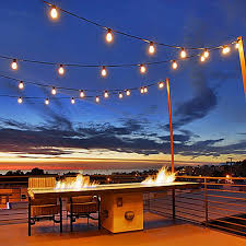 commercial patio lights. 330 Foot S14 Edison Outdoor String Lights \u2013 Suspended Socket Grade Commercial - Patio H