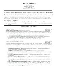 General Resume Skills Examples Fascinating General Career Objectives Sample For A Resume Best Good Example Of