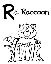 Small Picture R is for Raccoon Coloring Page NetArt