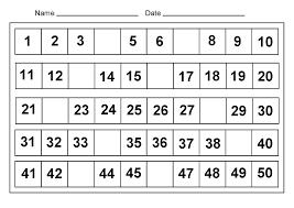 Number Charts 1 50 Printable Printable Shelter